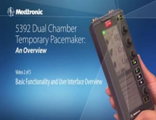 Functionality of the 5392 Temporary Pacemaker User Interface: Part 1