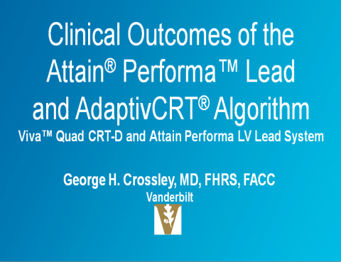Clinical Outcomes of the Attain Performa Lead and AdaptivCRT Algorithm - slide 1